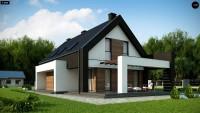 Проект одноэтажного дома для узкого участка Z330 P