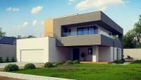 Готовый проект дома с мансардой и верандой 6х8 Zx108 2M