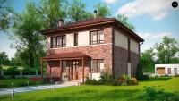Проект загородного дома в классическом стиле Zx24a