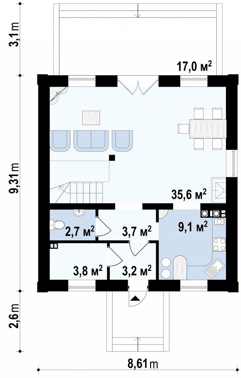 Первый этаж  дома Z1