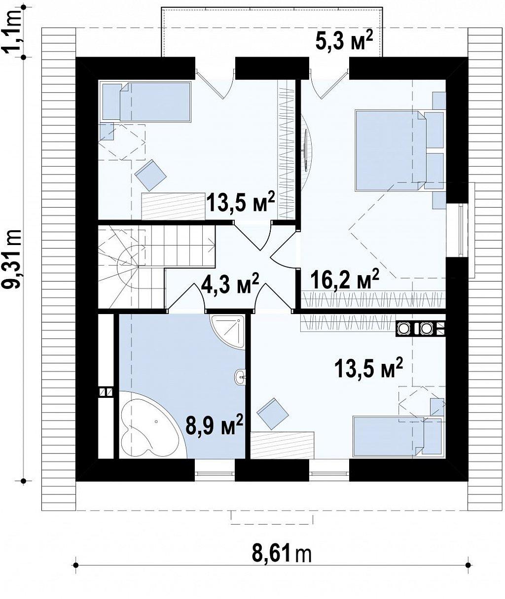 Второй этаж дома Z1