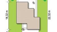 Минимальные размеры участка для проекта Z156A minus