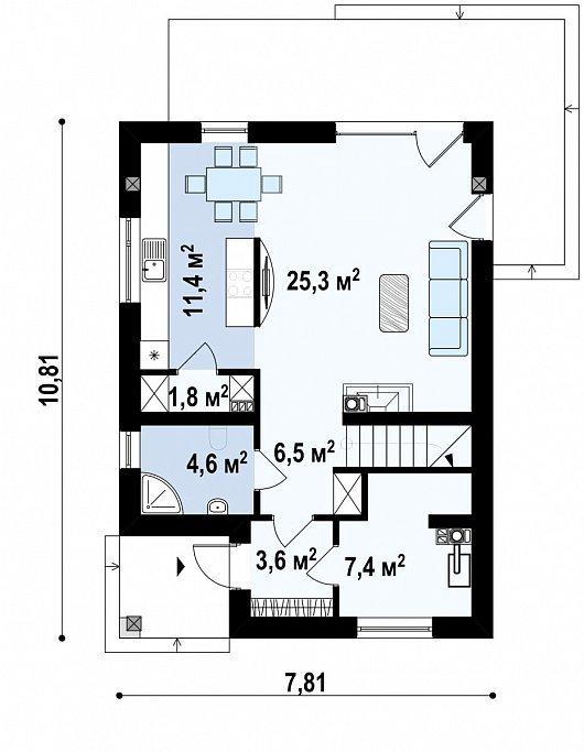 Первый этаж  дома Z295