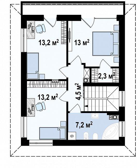 Второй этаж  дома Z295