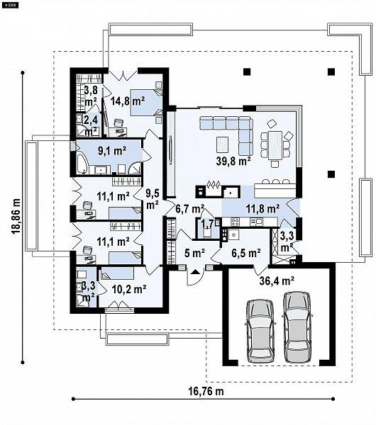 Первый этаж 185,6 м² дома Z378