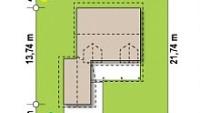 Минимальные размеры участка для проекта Z39 B GF lk