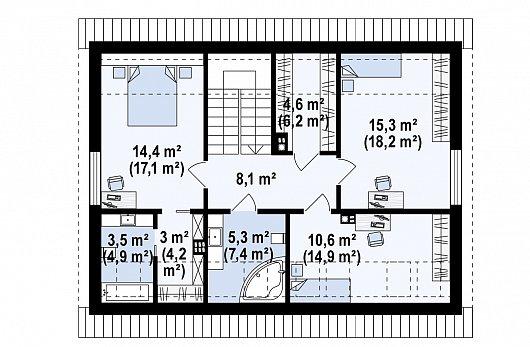Второй этаж дома Z394