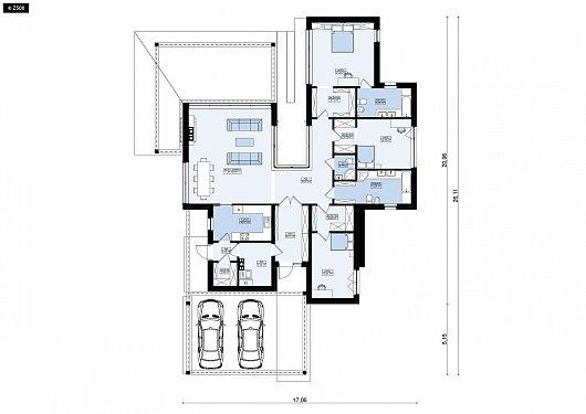 Первый этаж 179,1 м² дома Zx183