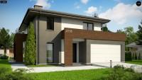 Проект двухэтажного коттеджного дома  Z156A minus