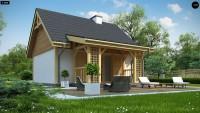 Проект дома для узкого длинного участка Z352