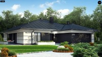 Проект дачного дома с мансардой Z378
