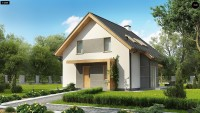 Проект классического одноэтажного дома Z44 A