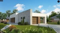 Проект одноэтажного дома с гаражом Zx129