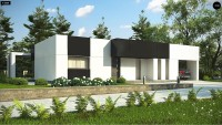 Проект одноэтажного дома с мансардой Zx150