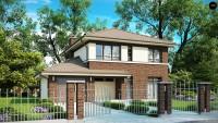Проект классического двухэтажного дома Zx24