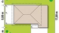 Минимальные размеры участка для проекта Zx63 B + s