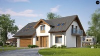 Проект дачного дома с мансардой Z172 gl2