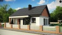 Самый популярный проект дома с мансардой Z316 A