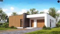 Проект дома с мансардой и верандой 6х8 Zx49 minus