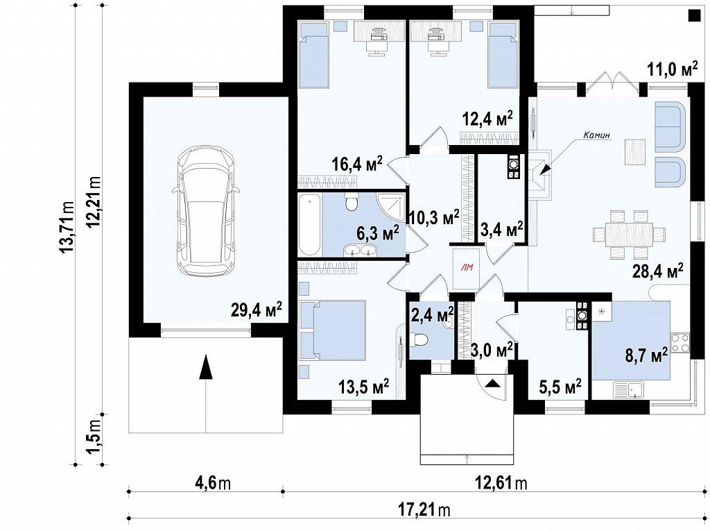Первый этаж дома Z24 GL