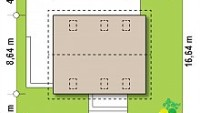 Минимальные размеры участка для проекта Z255 B pc