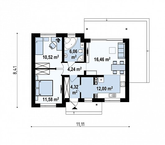 Первый этаж дома Z262