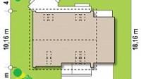 Минимальные размеры участка для проекта Z266 A