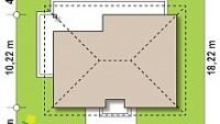 Минимальные размеры участка для проекта Z368 D