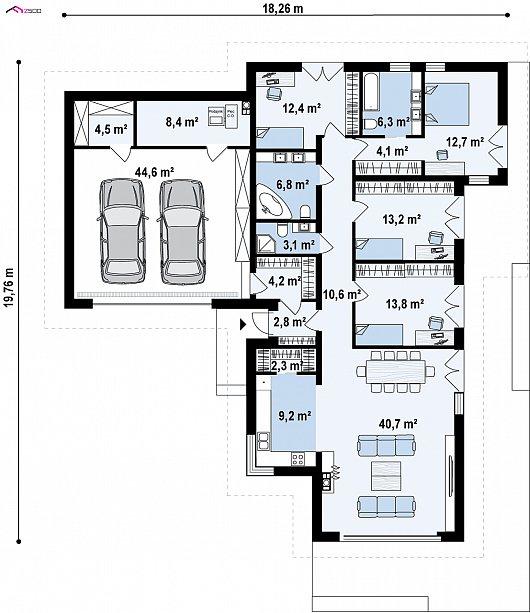 Первый этаж 198,4 м² дома Z402