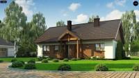 Проект дачного дома с мансардой Z369 D
