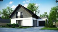 Типовой проект классического дома из кирпича Z371