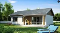 Проект дачного дома с мансардой z7 dk