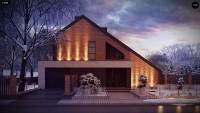 Проект дома 10х10 с мансардой zx95