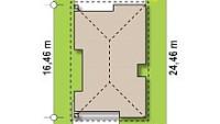 Минимальные размеры участка для проекта Z348