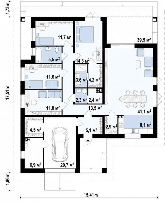Первый этаж дома Z379