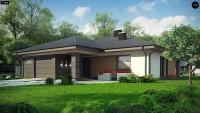Проект одноэтажного дома с гаражом Z379