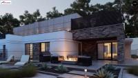 Дуплекс проект дома на две семьи Zb22