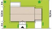 Минимальные размеры участка для проекта Z241 GP HB
