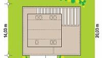 Минимальные размеры участка для проекта Zx156