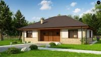 Проект одноэтажного дома с большим чердаком Zz10