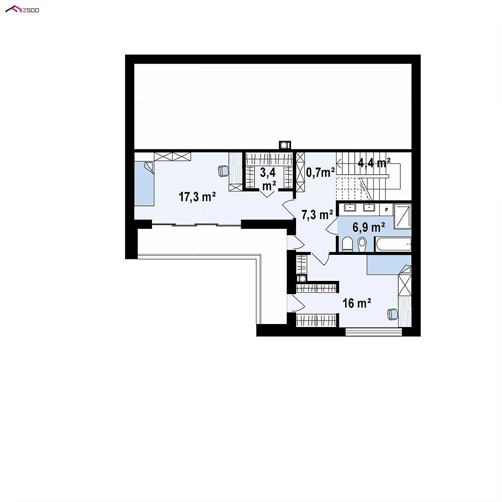 Второй этаж 63,5 м² дома Z450