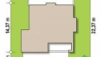 Минимальные размеры участка для проекта ZX62 A