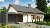 Готовый проект небольшого одноэтажного дома Z182 GL P