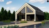 Проект дома с двухскатной крышей и гаражом Z445D