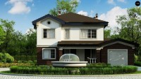 Проект двухэтажного дома 6 на 6 метра ZZ2
