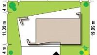 Минимальные размеры участка для проекта Zx80