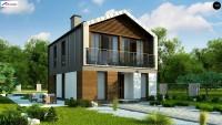 Проект узкого дома для узкого участка Z396