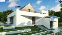 Проект двухэтажного дома с гаражом Zx145