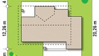 Минимальные размеры участка для проекта Z160 A GP