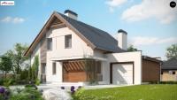Проект дома до 150 кв с гаражом z166 GP